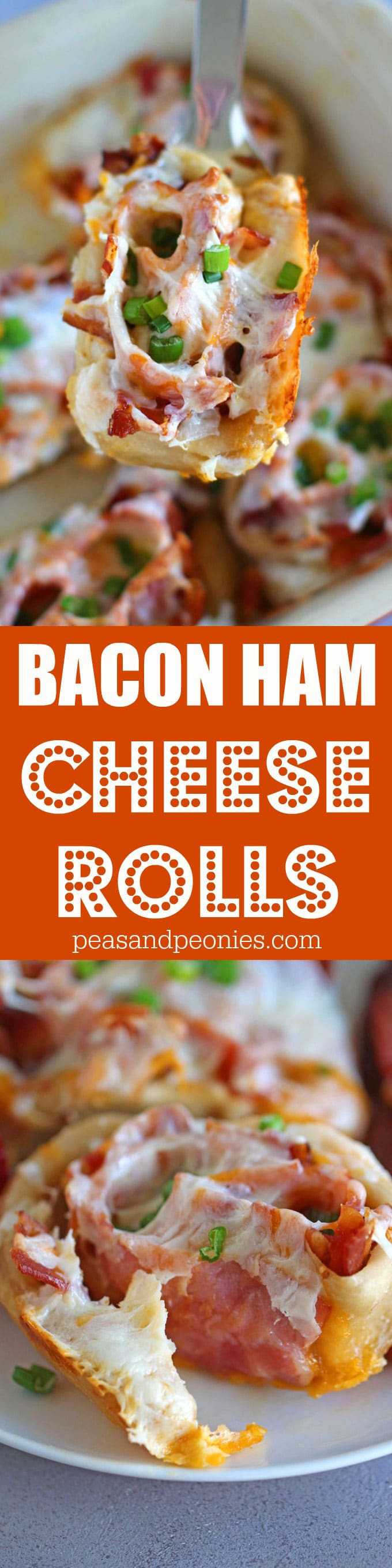 Bacon Ham Cheese Rolls are so easy to make using pizza dough or crescent dough, stuffed with bacon, ham and cheddar cheese these are perfect for brunch.
