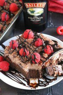 Chocolate Baileys Poke Cake