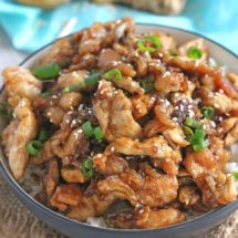 Incredibly Crispy Sesame Chicken with a delicious ginger flavor can be made in less than 30 minutes! Quicker and tastier than take-out!