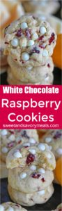 Lemon Raspberry Cookies are tender and buttery that they melt in your mouth. Loaded with white chocolate chips, lemon zest and sweet raspberries.