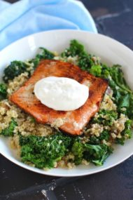 Blue Apron Salmon with Kale Salad