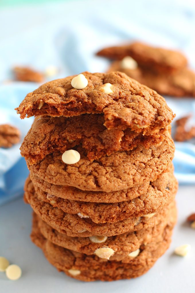 Carrot Cake Mix Cookies loaded with walnuts, raisins and white chocolate chips, are one of the easiest and most delicious ways to make bakery style carrot cake cookies.