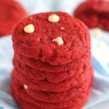 Red Velvet Cake Mix Cookies are one of the easiest and most delicious ways to make bakery style red velvet cookies.