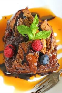 Chocolate Challah French Toast Casserole