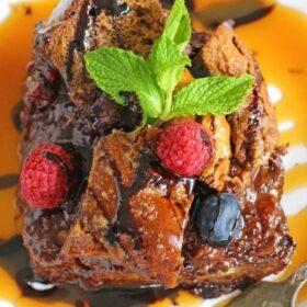 Chocolate French Toast Casserole