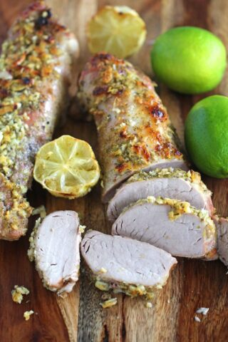 Lime Pork Loin is tender, juicy and refreshing. Marinated and cooked in the most amazing maple syrup, garlic and lime mixture.