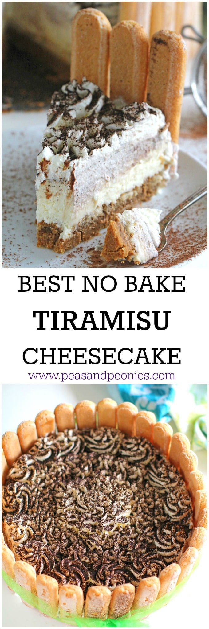 No Bake Tiramisu Cheesecake is a full proof recipe of your favorite Italian dessert. Incredibly creamy, rich and delicious, this will become a favorite.