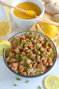 Healthy Honey Lemon Chicken is one of the fastest, most delicious and flavorful dinners you can make in 30 minutes!