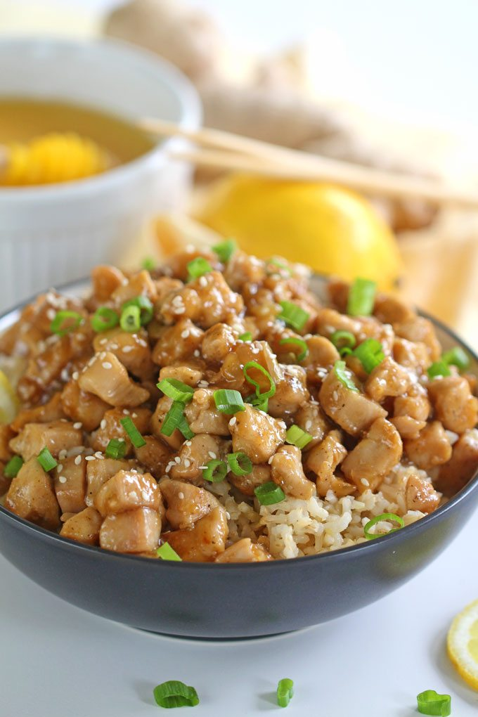 Healthy Honey Lemon Chicken