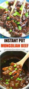 Instant Pot Mongolian Beef is a very easy and delicious meal you can make in just 30 minutes. Sweet, juicy and with tons of garlic and fresh ginger! Made healthier with less sugar and not deep fried!