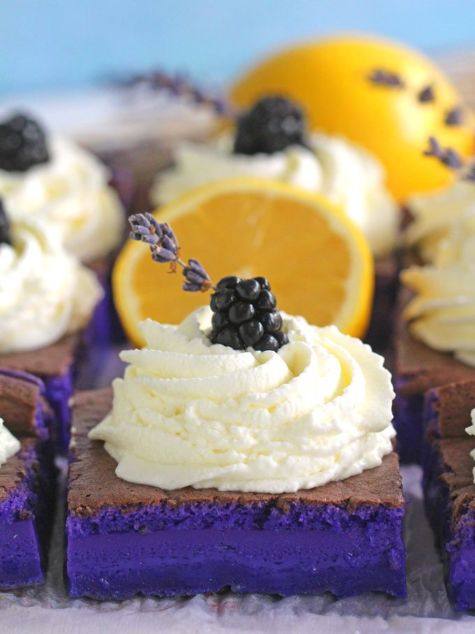 Magic Purple Cake with lemon and lavender flavor is incredibly easy to make, delicious and stunning.