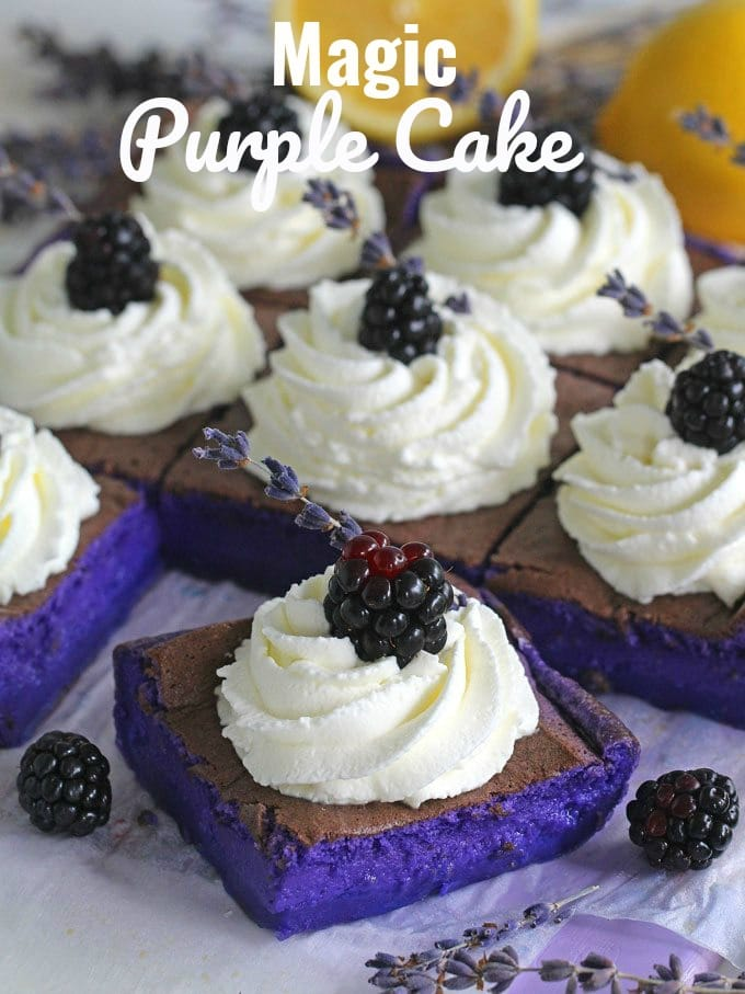 Magic Purple Cake Recipe