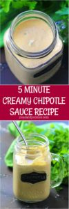 Chipotle Sauce is ready in 5 minutes and is great on salads, as a dipping sauce and even as a marinade.