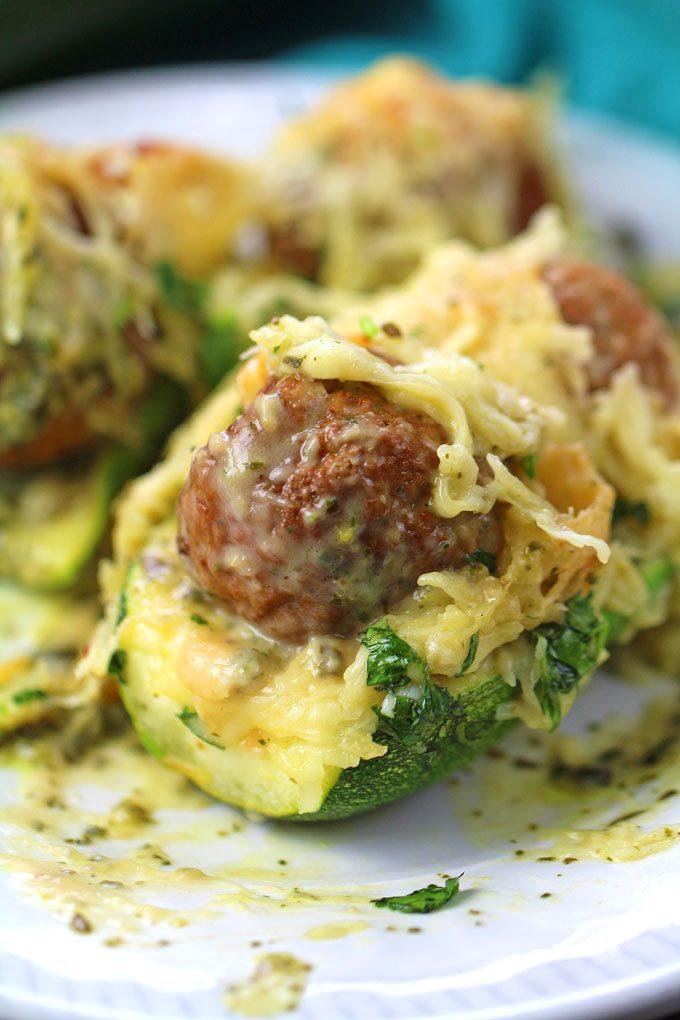 Meatball Zucchini Boats Recipe