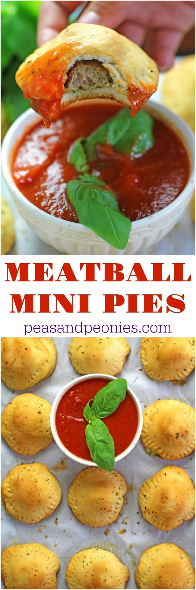 MINI MEATBALL PIES ARE THE PERFECT PARTY APPETIZER OR FUN DINNER. INCREDIBLY EASY TO MAKE, THESE ARE READY IN 30 MINUTES AND PERFECT FOR BUSY FAMILIES.