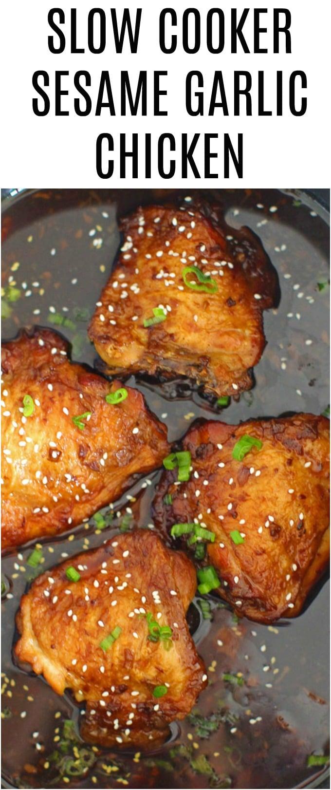 Slow Cooker Garlic Sesame Chicken