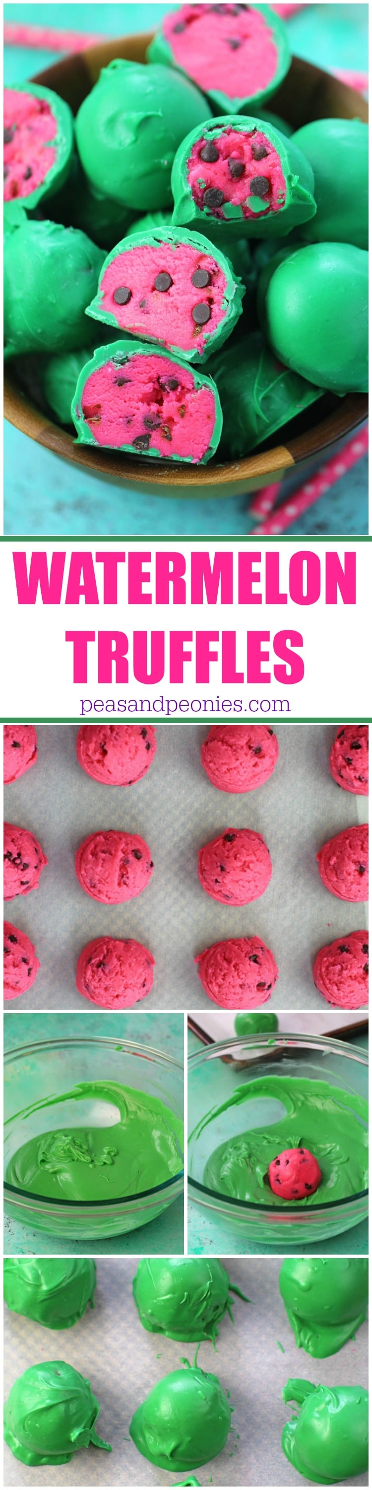 No Bake Watermelon Truffles are a fun, tasty and colorful summer treat. Easy to make, with just a few ingredients, these are perfect to brighten your day.
