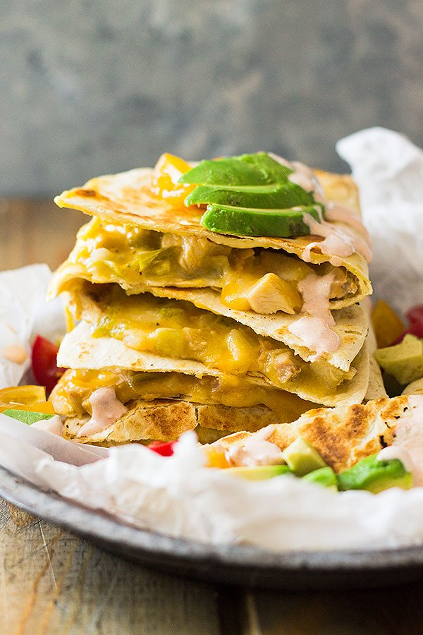 Weekly Meal Plan - Green Chile Turkey Quesadillas
