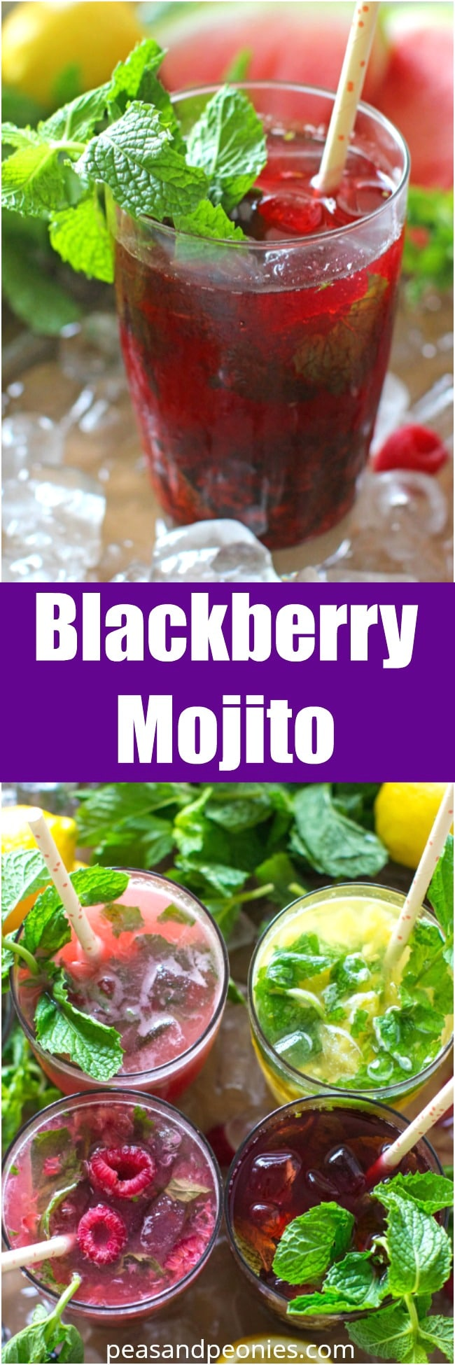 Fruit Mojitos are so easy to make, they are also pretty and refreshing, the perfect summer drink. Blackberry Mojito made with sugar roasted blackberries.