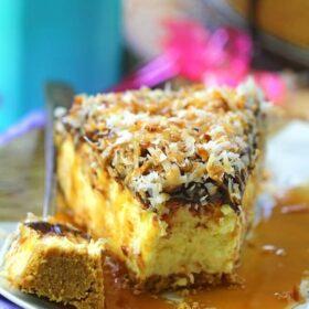 Samoa Cheesecake - No Bake
