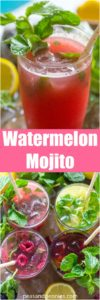 Fruit Mojitos are so easy to make, they are also pretty and refreshing, the perfect summer drink. Watermelon Mojito made with fresh, blended watermelon.