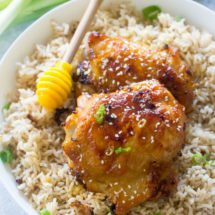 Honey Garlic Mustard Chicken made with just 6 ingredients and in one pan only, makes weeknight dinners easy, delicious and budget friendly.