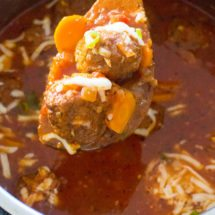 Instant Pot Italian Meatball Soup is easily made in one pot in your Instant Pot, with accessible ingredients and in just 30 minutes.