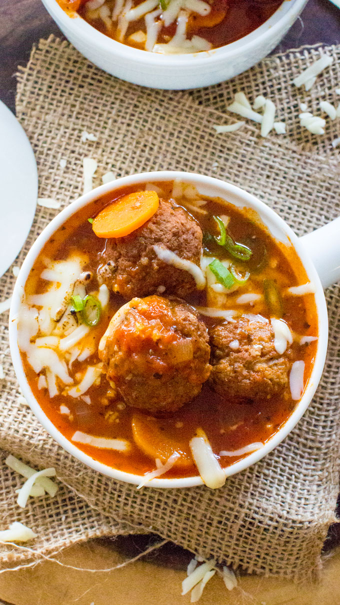 Instant Pot Italian Meatball Soup is easily made in one pot in your Instant Pot, with accessible ingredients and in just 30 mins.