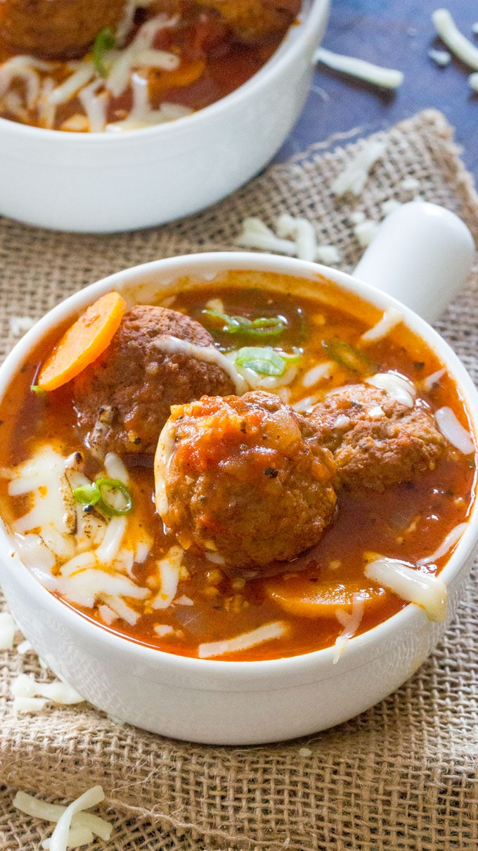 Instant Pot Italian Meatball Soup is a great family meal, easily made in your Instant Pot, with budget friendly ingredients and in just 30 minutes.
