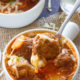 Instant Pot Italian Meatball Soup