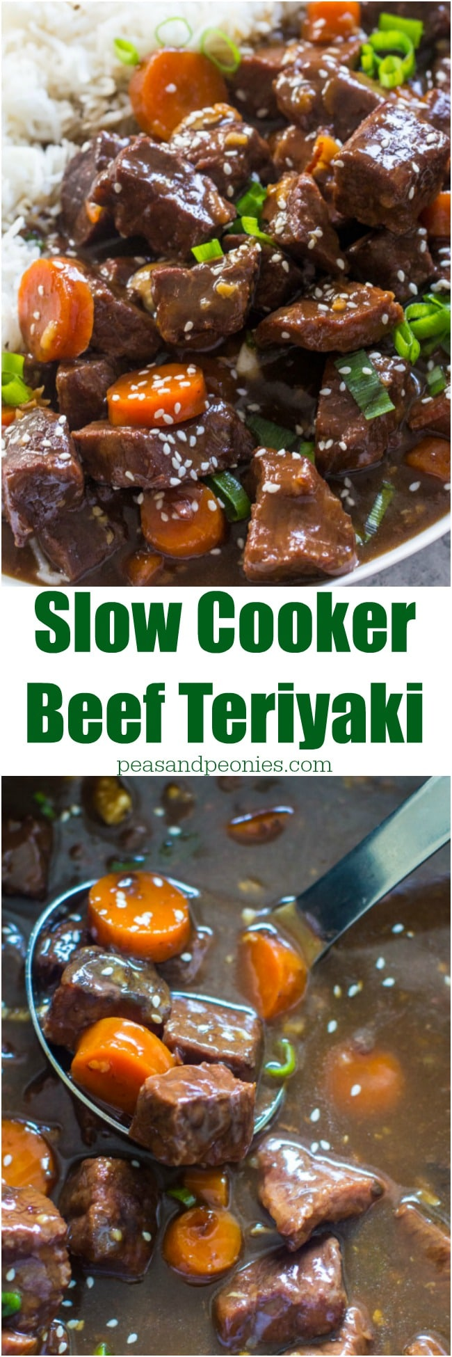 Easy to make Slow Cooker Beef Teriyaki is the perfect weeknight meal. Just add all the ingredients to the crockpot and cook.