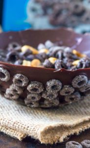 2 Ingredients Only! Edible Chocolate Cereal Bowl is the only way I want to be served my cereal for the rest of my life. Sweet, chocolaty, crunchy and entirely edible!