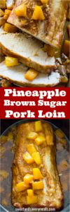 Slow Cooker Pineapple Pork made with just 5 ingredients. A great dinner with a fun tropical twist.
