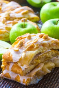 Amazing Apple Pie Danish incorporates all the great fall flavors in an easy, flaky and sweet, seasonal danish, made with cheesecake and apple pie filling.