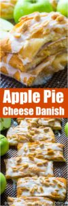 Apple Pie Danish incorporates all the great fall flavors in an easy, flaky and sweet, seasonal danish, made with cheesecake and apple pie filling.