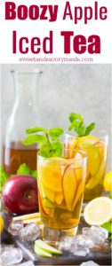 Boozy Apple Iced Tea is bright and refreshing, this is the perfect fall cocktail.