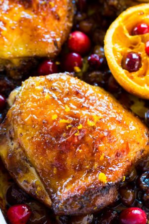CRANBERRY ORANGE CHICKEN - ONE PAN