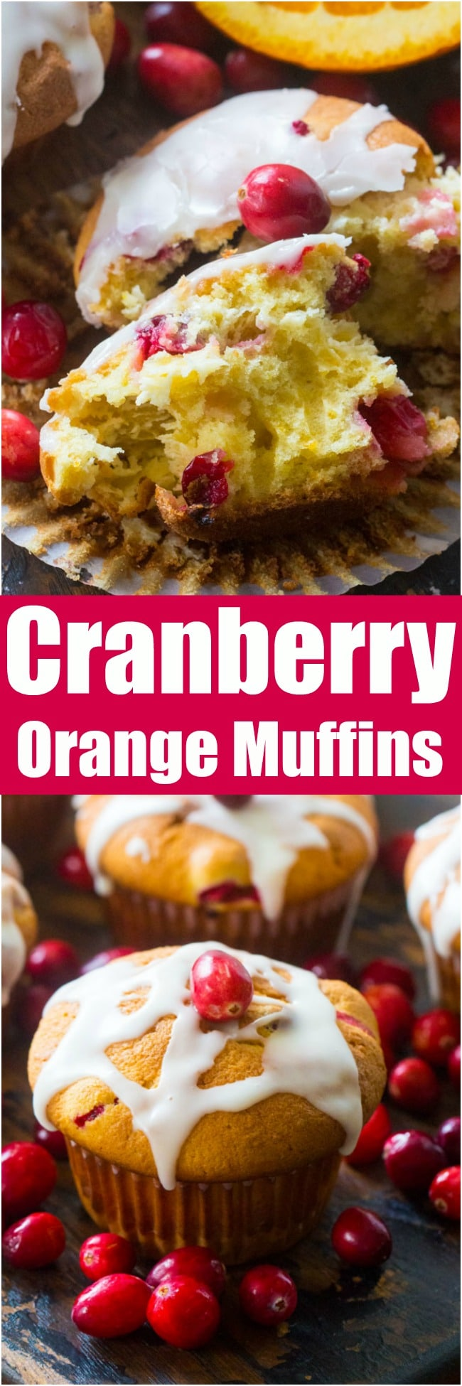 Cranberry Orange Muffins are the perfect fall flavor combo. Sweet, fluffy, with an amazing orange aroma and juicy, tart cranberries in every bite.