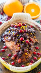 Cranberry Orange Turkey Breast is such a great, easy and delicious alternative to cooking a whole turkey. The meat turns out juicy and flavorful.