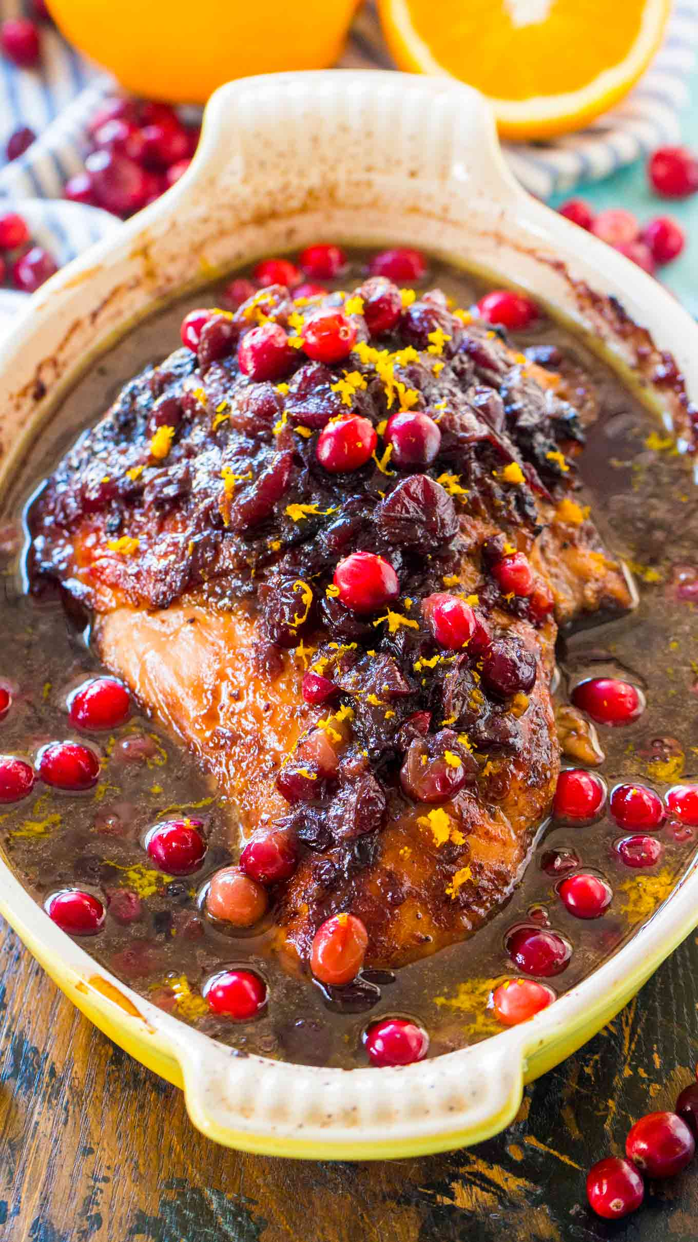 Juicy and flavorful Cranberry Orange Turkey Breast is such a great, easy and delicious alternative to cooking a whole turkey. The meat turns out juicy and flavorful.