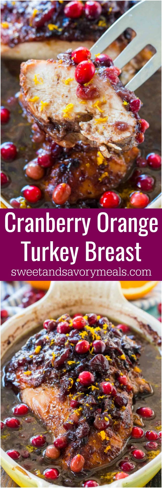 Cranberry Orange Turkey Breast is such a great, easy and delicious alternative to cooking a whole turkey.