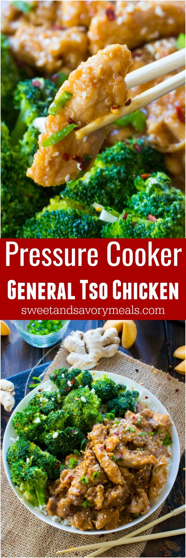 Better than takeout Instant Pot General Tso Chicken is a flavorful, restaurant quality meal made simple and easy in your pressure cooker in just 30 minutes!