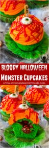 Bloody Halloween Desserts like these Toxic Cupcakes, are a fun and easy way to take your Halloween treats to a new scary, delicious and fun level!
