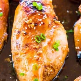 Oven Baked Mongolian Chicken