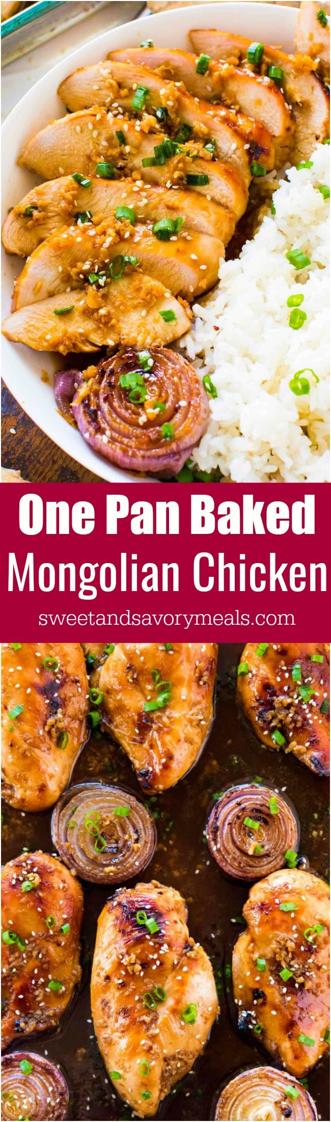 Best Baked Mongolian Chicken is the perfect combo of sweet and savory. A very easy dish, made in one pan and baked instead of fried.