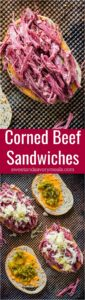 Homemade Corned Beef Sandwiches are the homemade take on the classic deli sandwiches of corned beef with toasted rye bread, sauerkraut and Russian dressing.