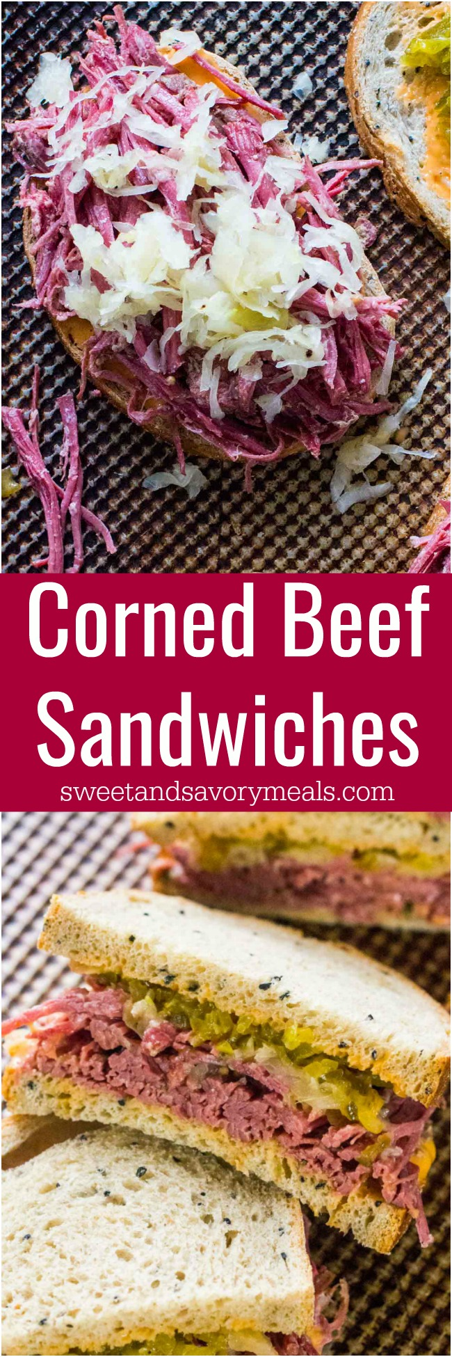 Picture of corned beef sandwiches for st patricks day.