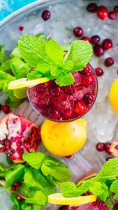 Easy Cranberry Mocktail is the perfect fall drink, sweet and refreshing, can also be made ahead of time for your Thanksgiving feast.