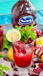 Best Cranberry Mocktail is the perfect fall drink, sweet and refreshing, can also be made ahead of time for your Thanksgiving feast.