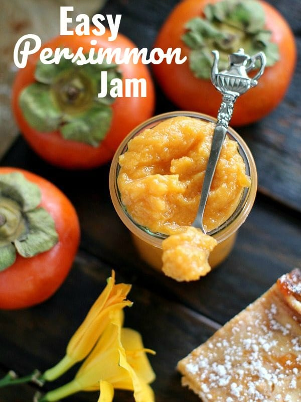 picture of persimmon jam in a jar